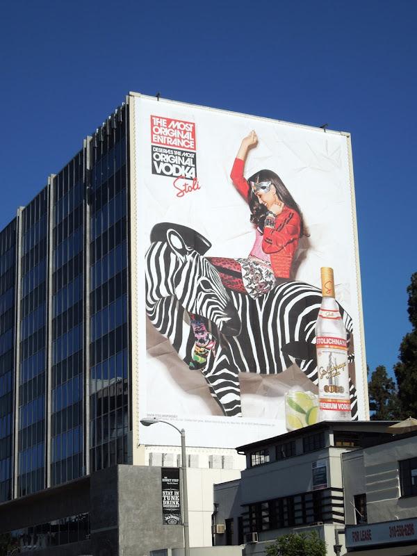 Stoli Most original vodka zebra billboard