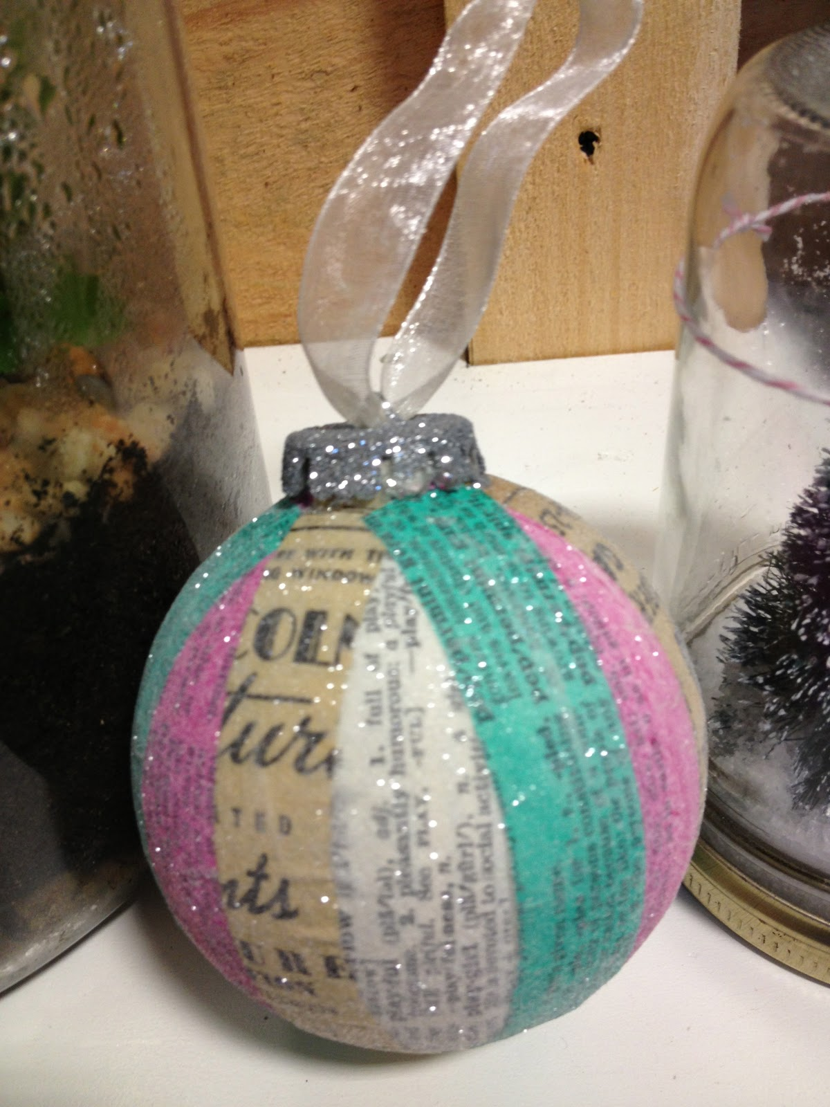 Vintage looking christmas ornaments - If You Take A Close Up Look At This Holiday Tree Ornament You Will Discover That It Is Made Using The Pages Of An Old Dictionary Mixed Media Artist Leslie