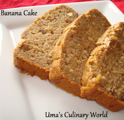 Uma S Culinary World Eggless Whole Wheat Banana Bread
