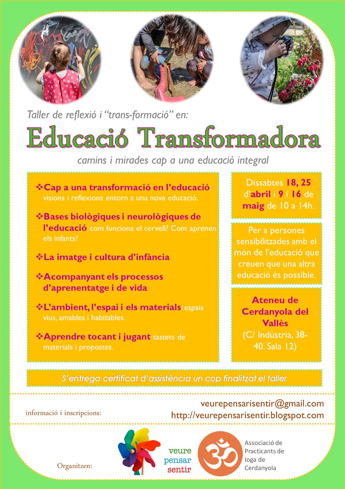 FORMACIÓ EN EDUCACIÓ TRANSFORMADORA