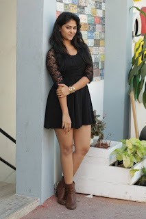 Palak Lalwani Spicy Sindhi Actress in tight Black Dress at Abbayitho Ammayi movie success meet