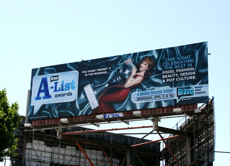 Kathy Griffin Bravo AList Awards 2009 billboard