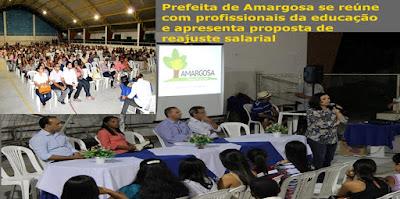 Amargosa: Prefeita de Amargosa se reúne com profissionais da educação e apresenta proposta de reajuste salarial