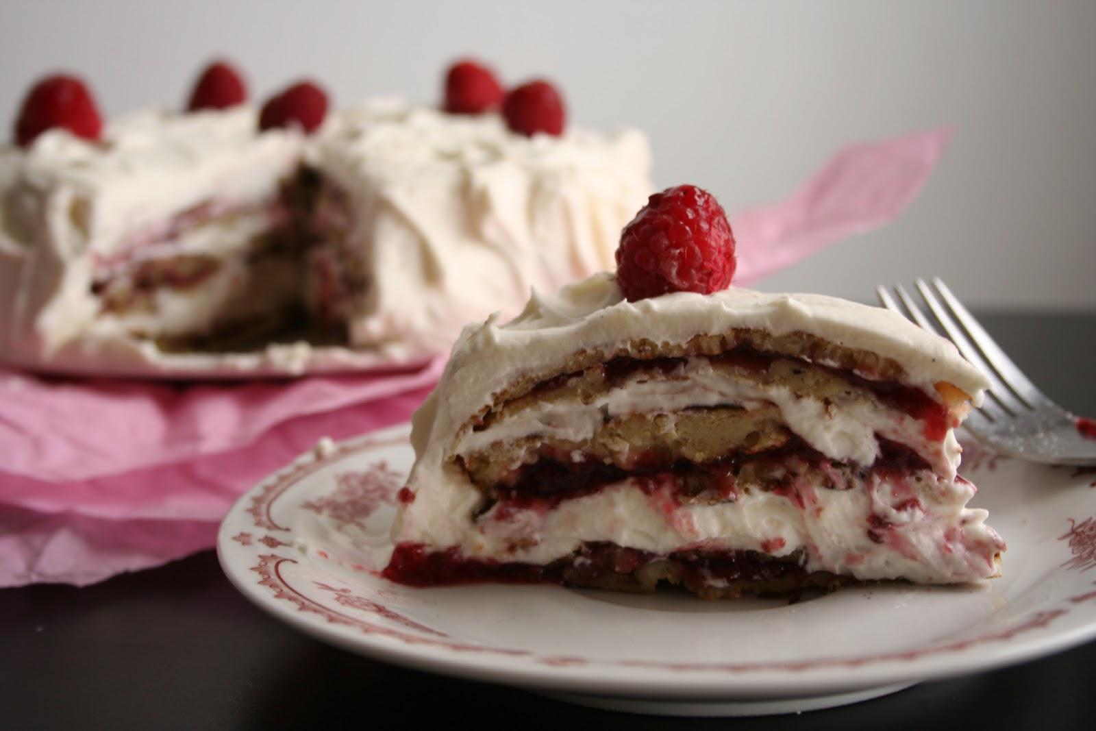 A Full Life White Chocolate Raspberry Crepe Cake