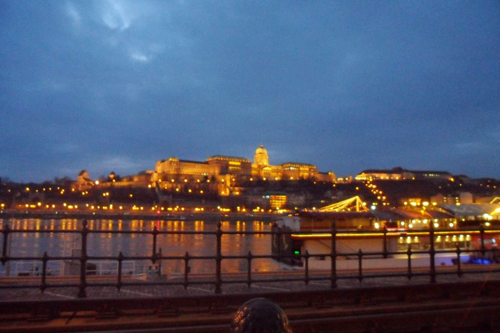 Budapest at night in Winter