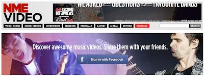 NME Video, 音楽サイト