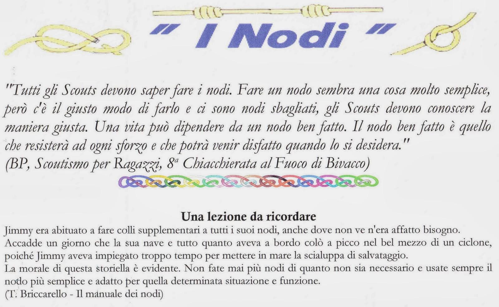 Riprendiamo il cammino secondo corso superiore di nodi for Nodo invisibile per unire due fili di lana
