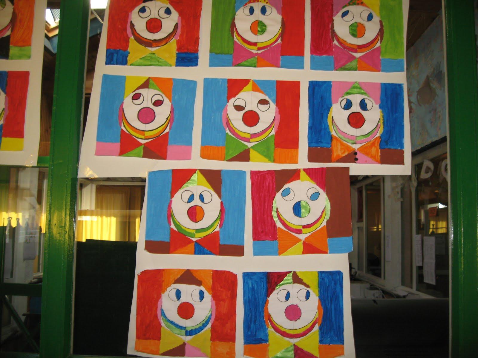 groupe scolaire du vic bilh les clowns la mani re de picasso. Black Bedroom Furniture Sets. Home Design Ideas