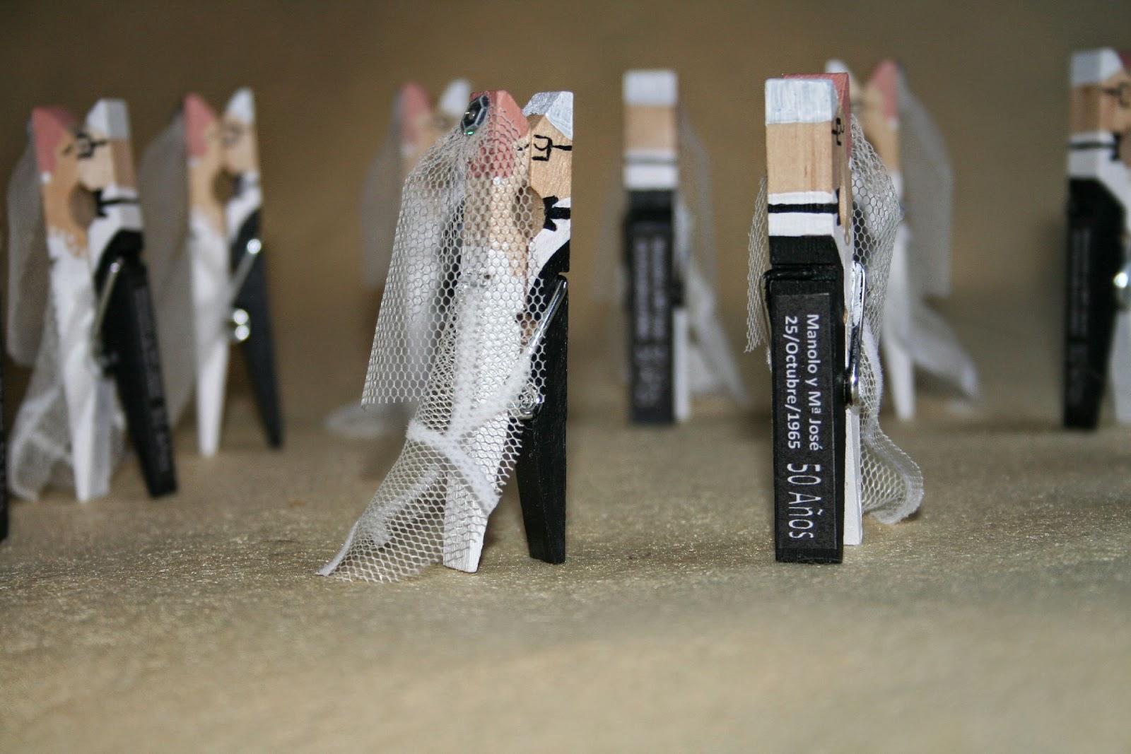 Manualidades mguaymar detalles especiales pinzas - Manualidades para una boda ...
