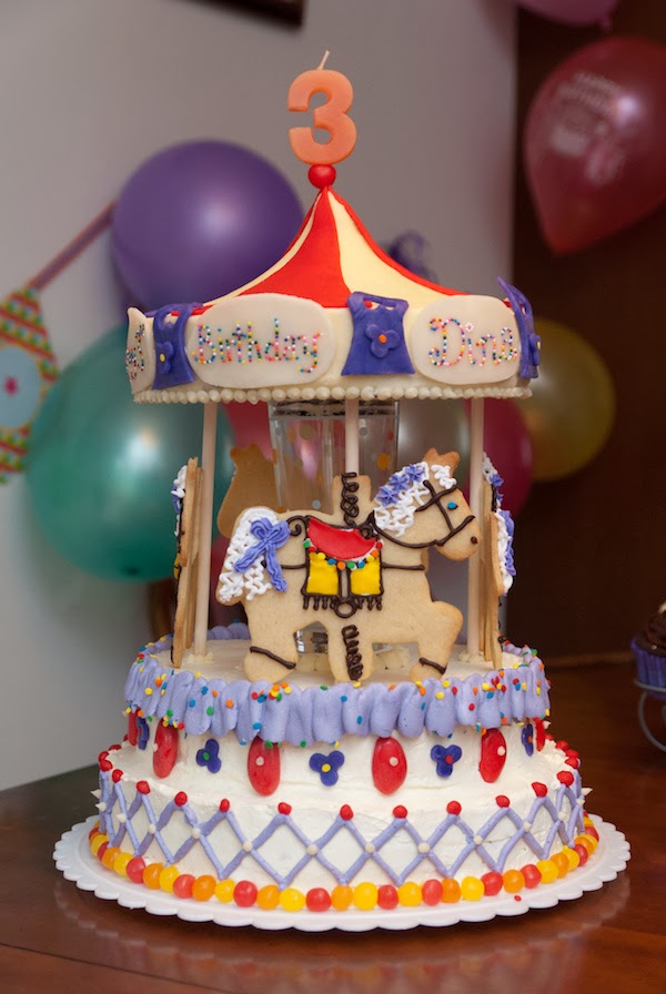 Cake Is Love Abroad Dinas 3rd Birthday Carousel Cake