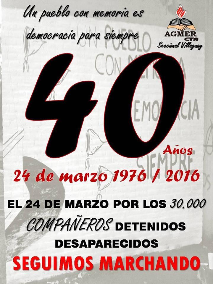 1976 - 24 de marzo 40 años - 2016