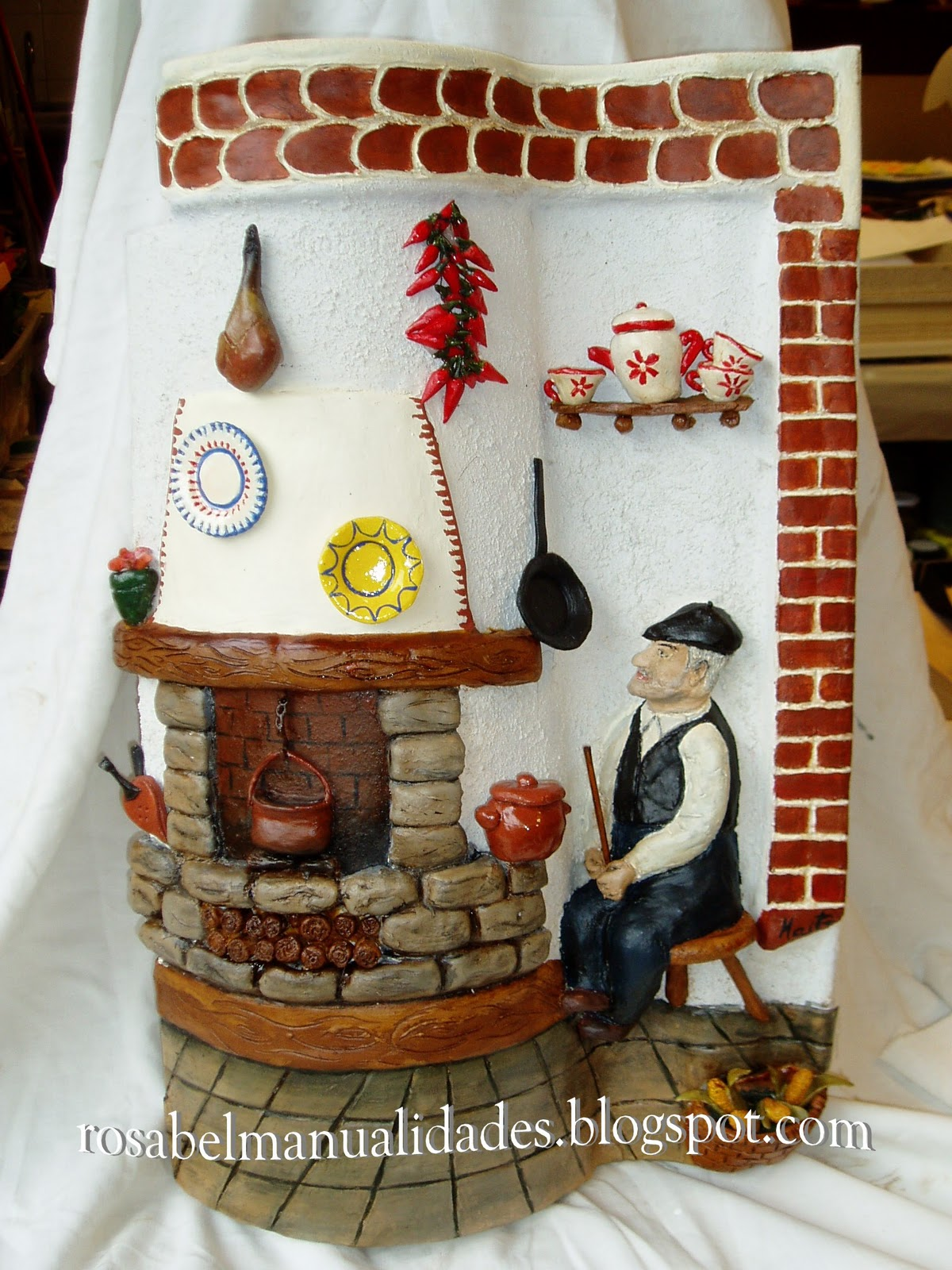 Rosabel manualidades tejas decoradas - Como decorar tejas rusticas ...