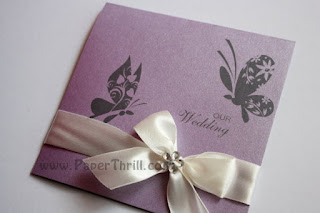 purple butterfly wedding invitations