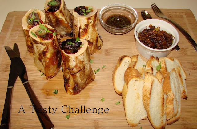 Tasty Challenge.....: Oven Roasted Bone Marrow with sauteed Onion ...