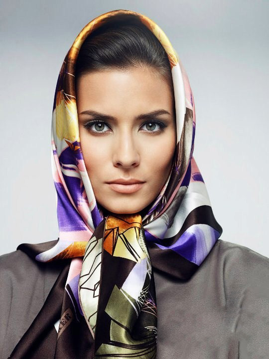 how to wear scarf on head for women