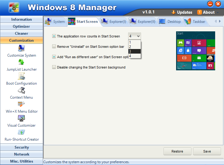 Cara modifikasi start scren windows 8