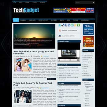 TechGadget blog template. template image slider blog. magazine blogger template style. wordpress theme to blogger. template video blog template. template gadget for blogger blog