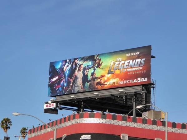 DC Legends of Tomorrow series billboard