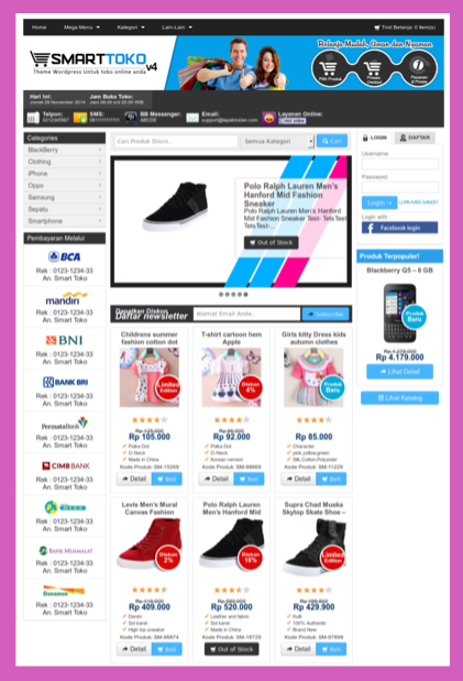 Tema toko online wp