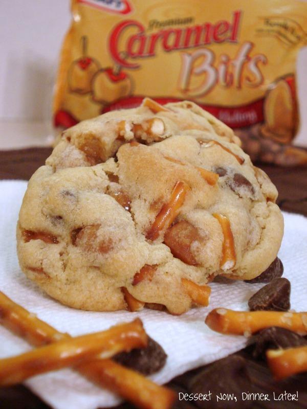 Caramel Pretzel Chocolate Chip Cookies - Dessert Now, Dinner Later!