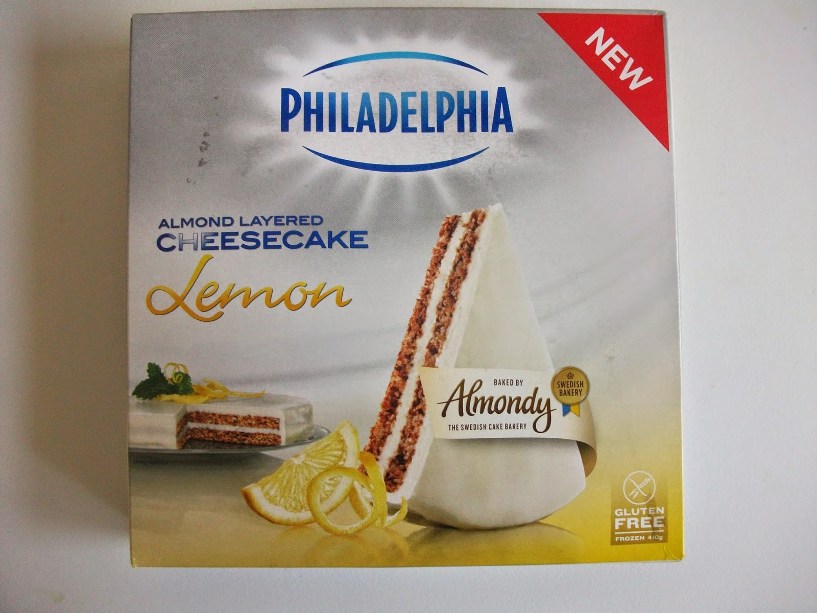 philadelphia almondy lemon cheesecake