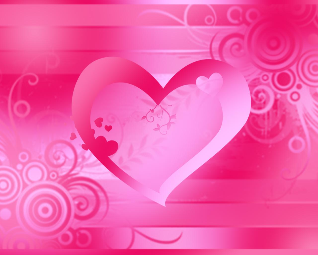 25 Beautiful pink heart wallpapers