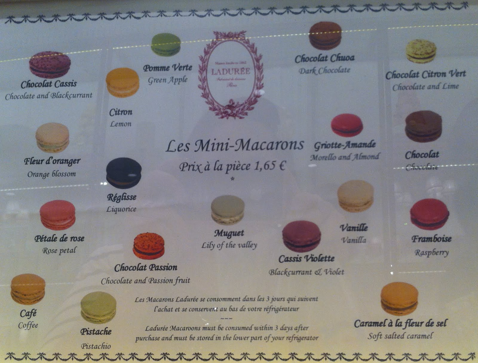 The McDonalds did cure my hangover though Macaroons Laduree