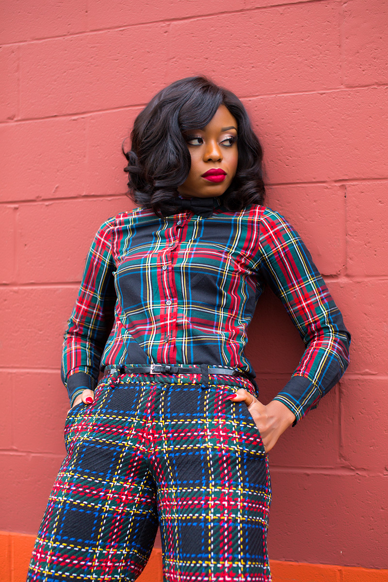 plaid on plaid, www.jadore-fashion.com