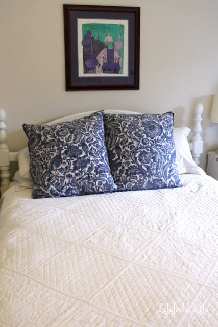 hand made white quilt Lilyfield Life