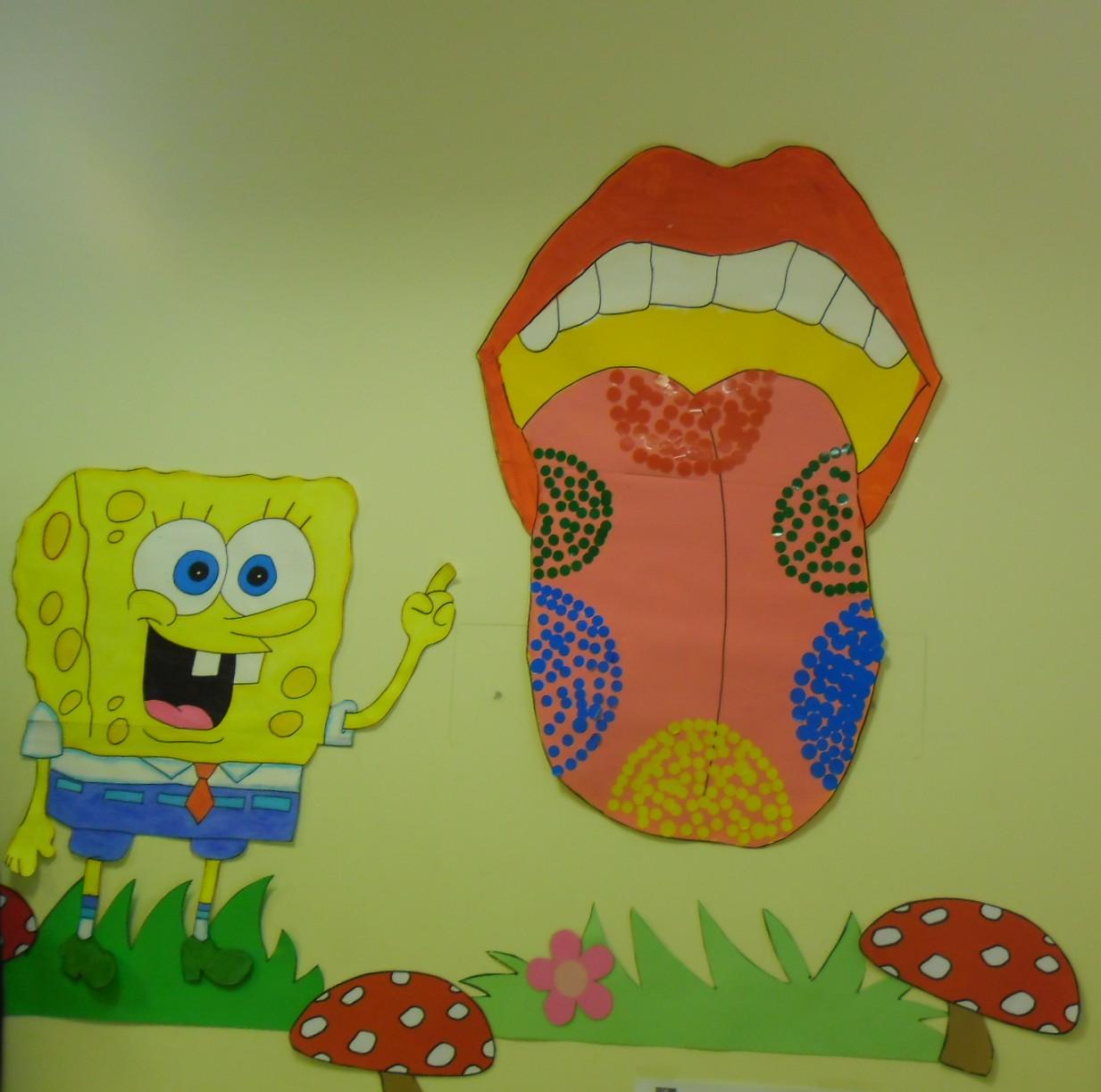 Sentido del gusto para ni os imagui for Mural de los 5 sentidos