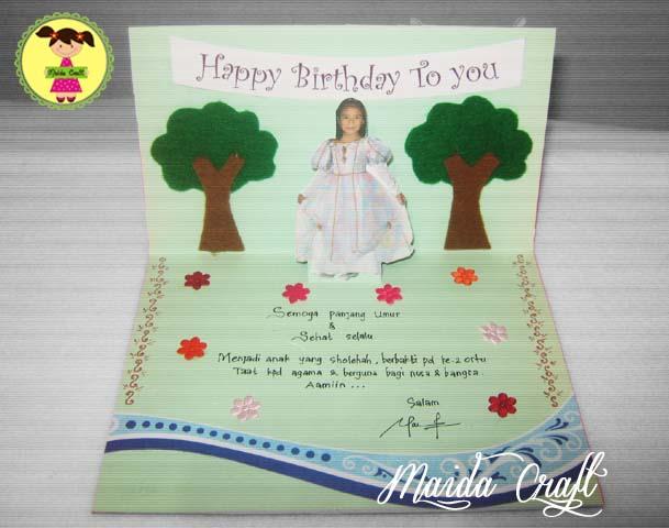 ... kartu undangan yang saya modif jadilah kartu ucapan ulang tahun