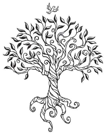 Line Art Of Trees : Busy drawing illustration may