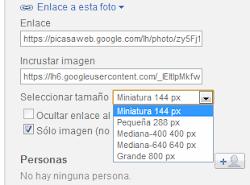 Mostrar miniatura de en Picasa