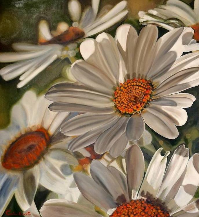 Im genes arte pinturas cuadros modernos gran tama o flores for Cuadros grandes dimensiones
