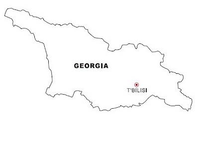 LAMINAS PARA COLOREAR COLORING PAGES Mapa Y Bandera De Georgia - Mapa de georgia