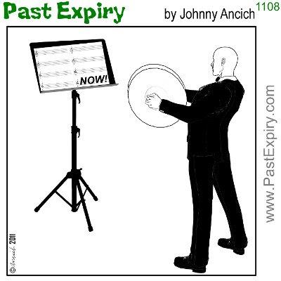 [CARTOON] Play cymbals like a boss. cartoon, music,