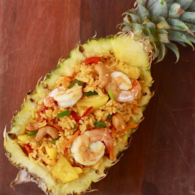 Thai Pineapple Fried Rice In A Pineapple Shell Recipes — Dishmaps