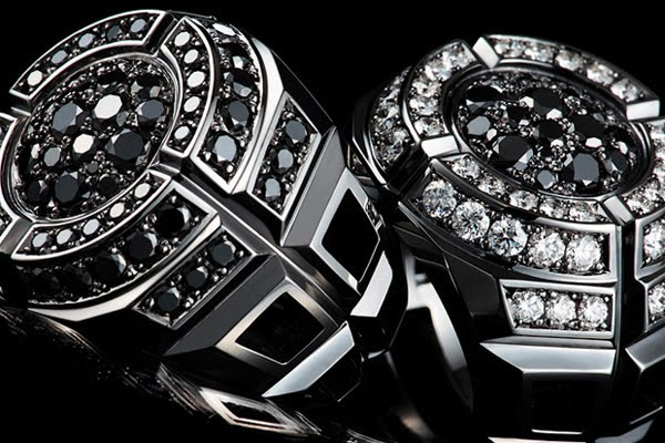 purchasing a wedding ring that features the intricate details usually found in gothic styles paired up with stunning black diamonds will not only create an - Goth Wedding Rings