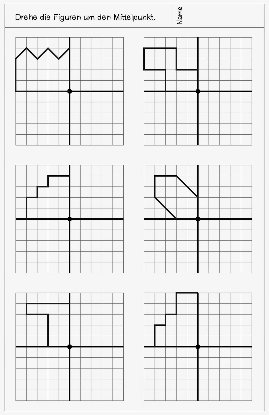 Lernstübchen: neue Arbeitsblätter zur Drehsymmetrie