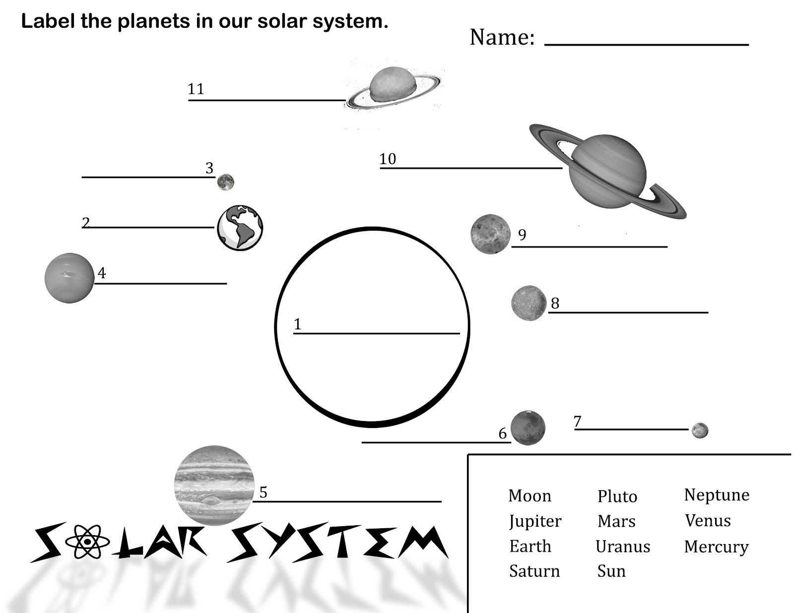 Solar System Worksheets 3rd Grade Photos - Toribeedesign