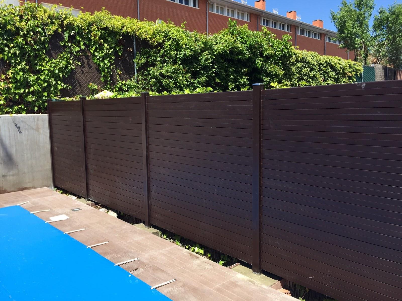 Como poner vallas de madera materiales de construcci n for Valla plastico jardin