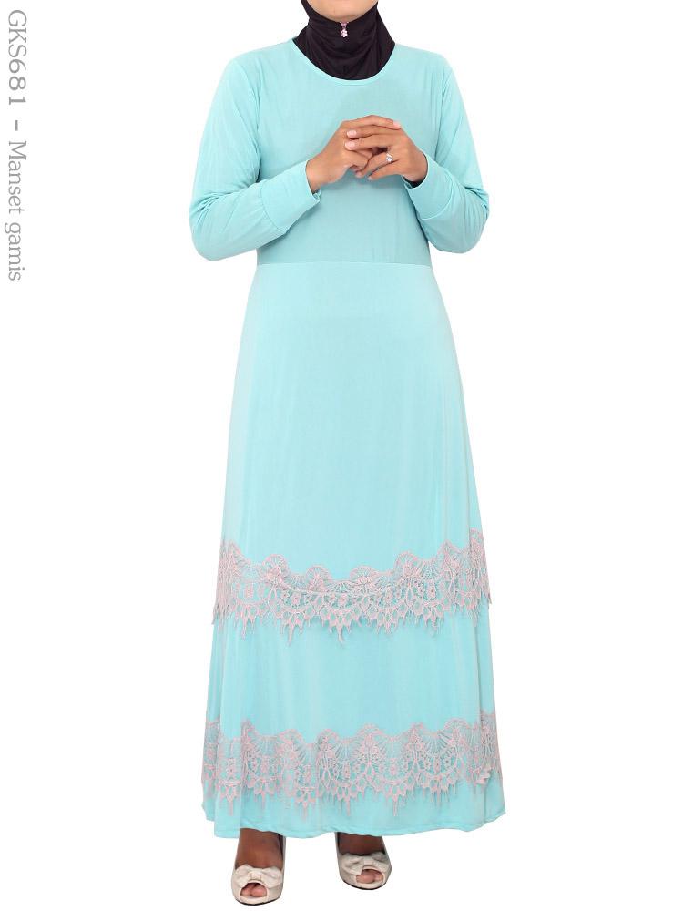 Gamis Cantik Muslimah Gks681 Busana Muslim Murah Terbaru