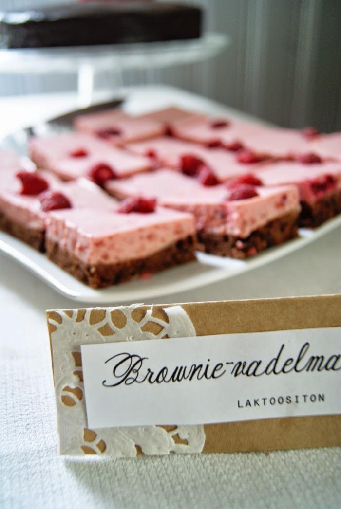 Brownie-vadelmaleivokset