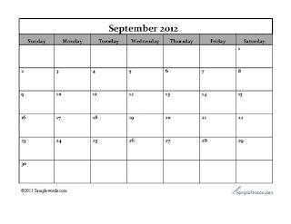 free-calendar september 2012