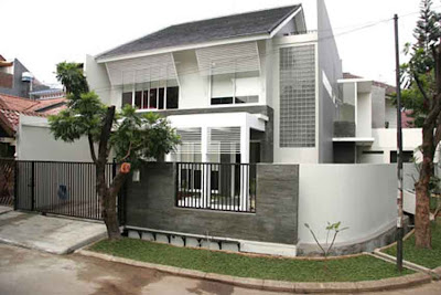 gambar rumah lt 2 on Membangun Rumah Minimalis untuk Lahan Kaveling Sudut