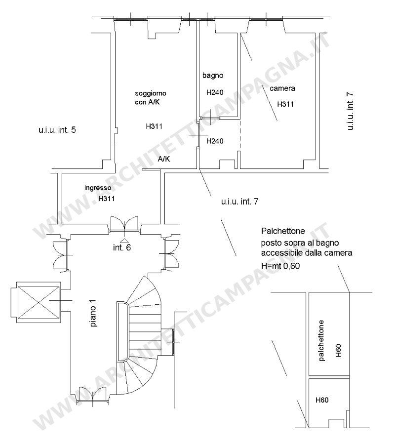 Diari di un architetto il soppalco nel docfa come for Planimetrie capannone
