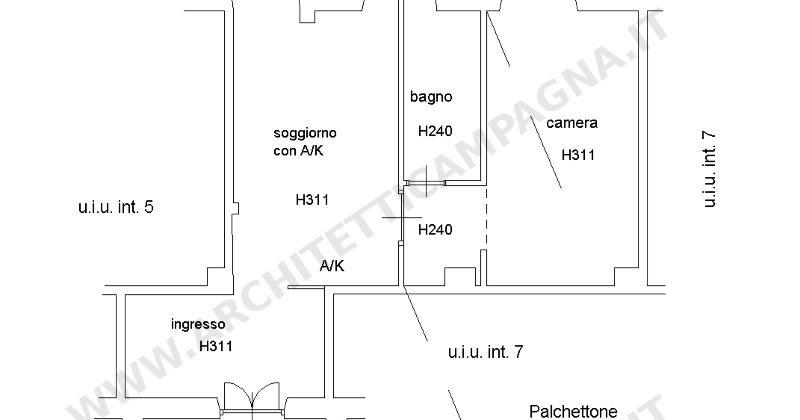 Diari di un architetto il soppalco nel docfa come for Planimetria casa 1200 piedi quadrati