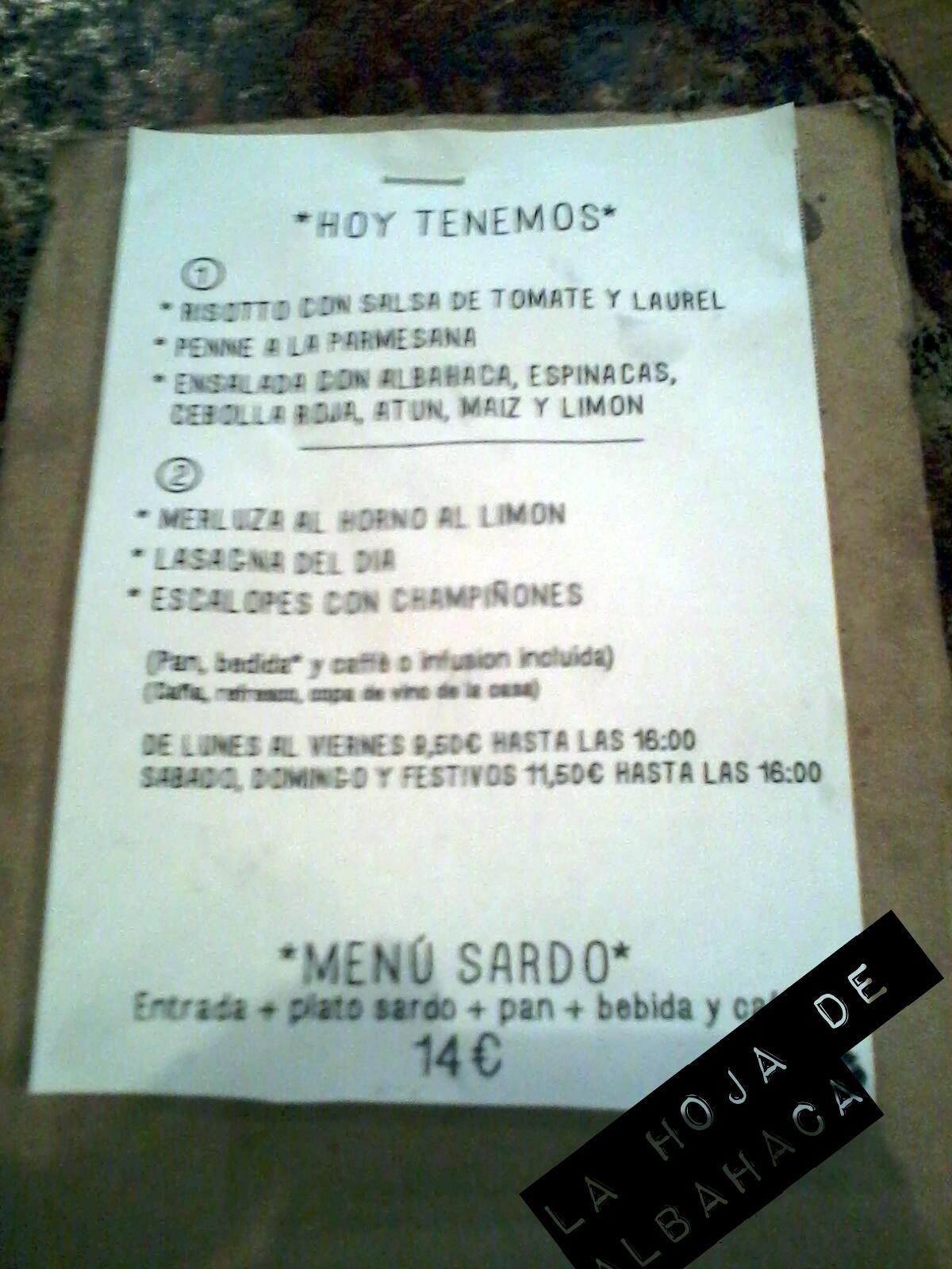 Aió, Restaurante italianos Madrid, Cerdeña, Menú Aió,