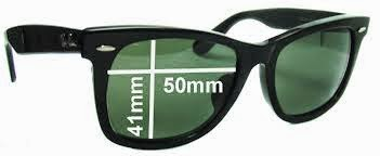 ray ban clubmaster measurements l90y  FRAME MEASUREMENT