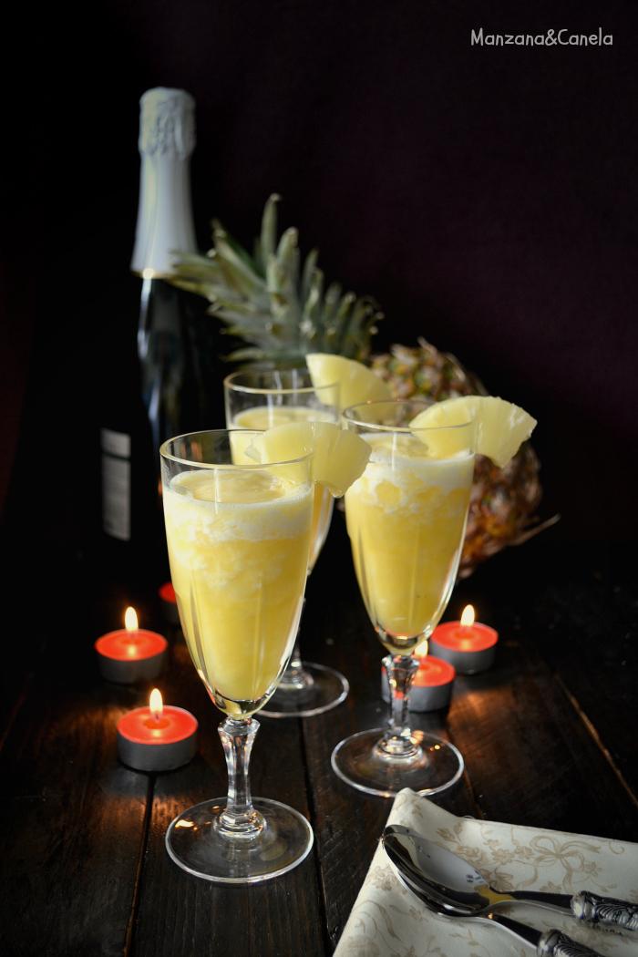 Manzana canela sorbete de pi a al cava y feliz a o nuevo - Sorbete limon al cava ...
